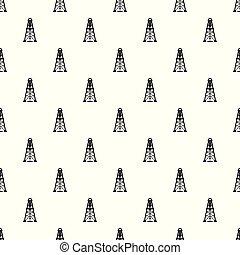 パターン, ベクトル, seamless, オイルの デリック