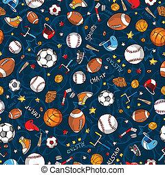 パターン, ベクトル, seamless, スポーツ