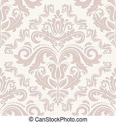 パターン, ベクトル, seamless, ダマスク織
