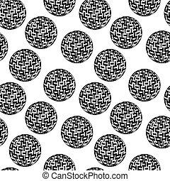 パターン, ベクトル, seamless, ボール