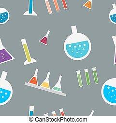 パターン, ベクトル, seamless, 実験室