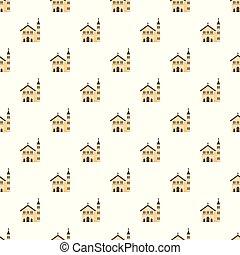 パターン, ベクトル, seamless, 教会