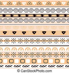 パターン, ベクトル, seamless, 背景, 民族