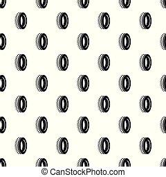 パターン, ベクトル, seamless, tyre, 1(人・つ)