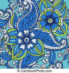 パターン, ペイズリー織, indian, seamless, パターン