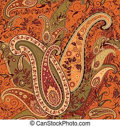 パターン, ペイズリー織, seamless