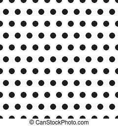 パターン, ポルカ, seamless, 点