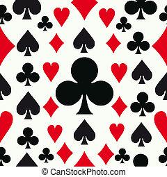 パターン, ポーカー, seamless, 背景
