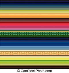 パターン, メキシコ人, seamless, 敷物