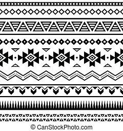 パターン, メキシコ人, seamless, aztec