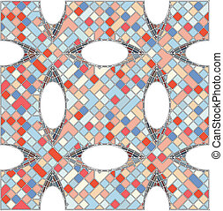 パターン, モザイク, 幾何学的