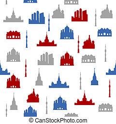 パターン, モスクワ, seamless