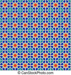 パターン, モロッコ, seamless, 背景