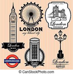 パターン, ロンドン, セット, ベクトル