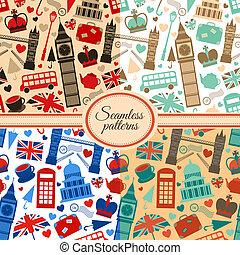 パターン, ロンドン, seamless, コレクション