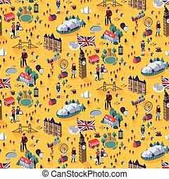 パターン, ロンドン, seamless, 都市