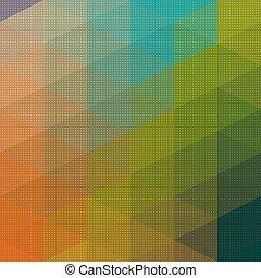 パターン, 三角形, モザイク