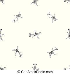 パターン, 上, seamless, ベクトル, ヘリコプター, 光景