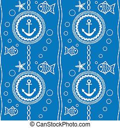 パターン, 主題, seamless, 海である