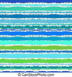 パターン, 促される, しまのある, 海, 波
