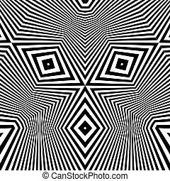 パターン, 光学, 黒, 錯覚, バックグラウンド。, 白