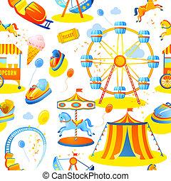 パターン, 公園, seamless, 娯楽