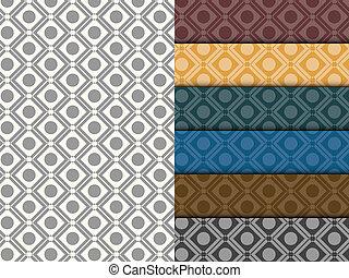 パターン, 円, セット, seamless, カラフルである