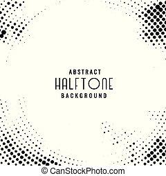 パターン, 円, 黒い背景, halftone