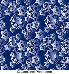 パターン, 冬, 雪片