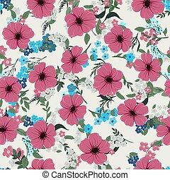 パターン, 別, 野生の花, seamless