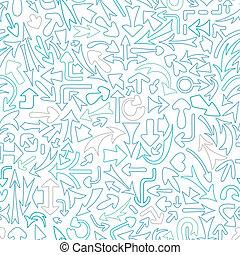 パターン, 別, seamless, arrows.