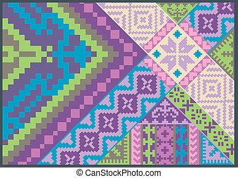 パターン, 刺繍, すてきである