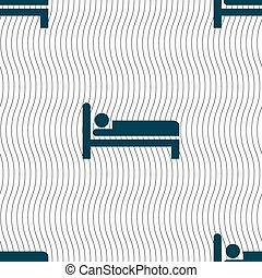 パターン, 印。, ホテル, seamless, ベクトル, 幾何学的, texture., アイコン