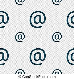 パターン, 印。, seamless, 電子メール, ベクトル, 幾何学的, texture., アイコン