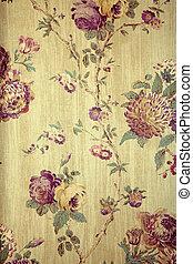 パターン, 壁紙, 型, 花
