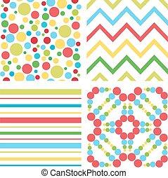 パターン, 子供, カラフルである