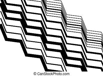 パターン, 対角線, 背景, 手ざわり, デザイン, 傾き, ストリップ, 幾何学的, element., ライン, ジグザグ, 黒, モノクローム, のこぎり状である, 白