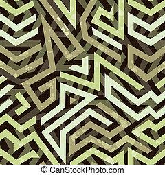 パターン, 幾何学的, グランジ, 落書き, seamless