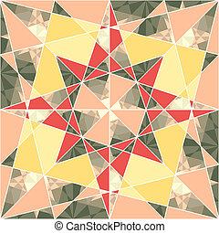 パターン, 幾何学的, ベクトル, セット, seamless