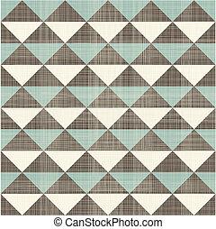 パターン, 幾何学的, レトロ, 三角形, seamless