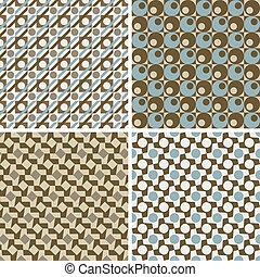 パターン, 幾何学的, レトロ