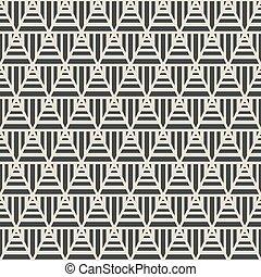 パターン, 幾何学的, 三角形, seamless