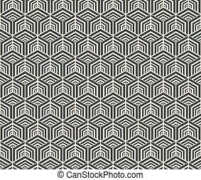 パターン, 幾何学的, 六角形, seamless