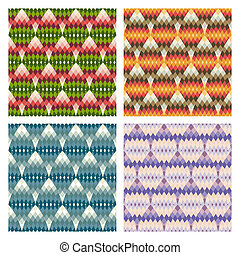 パターン, 幾何学的, 多色刷り, seamless