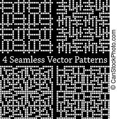 パターン, 幾何学的, 広場, seamless