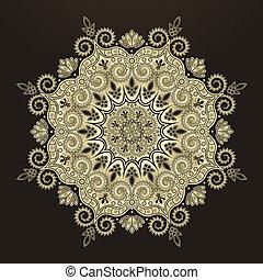 パターン, 幾何学的, 放射状