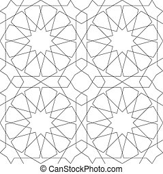 パターン, 幾何学的, 白, seamless