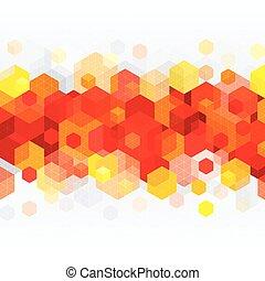 パターン, 幾何学的, 赤