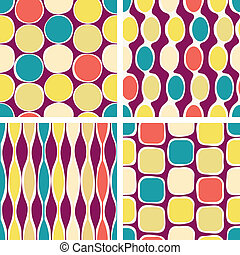 パターン, 幾何学的, seamless, レトロ