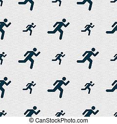 パターン, 幾何学的, seamless, 人, アイコン, texture., 印。, 動くこと